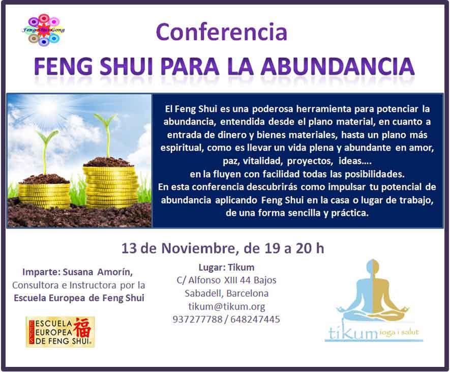 Pr ximos eventos feng shu gong feng shui para la abundancia for Feng shui para todos