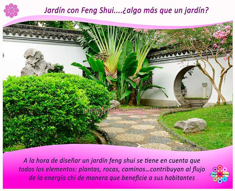 jardín feng shui