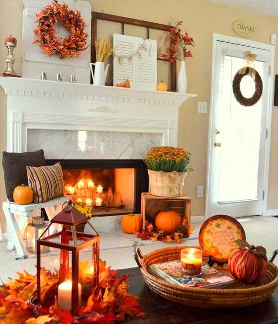otoño en el hogar