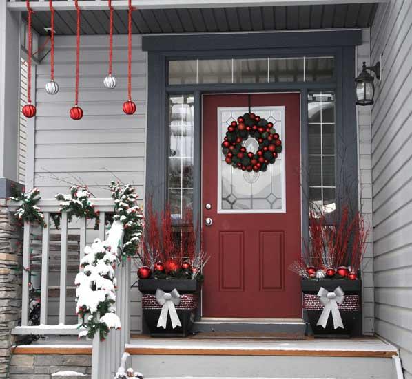 decoración puerta navidad